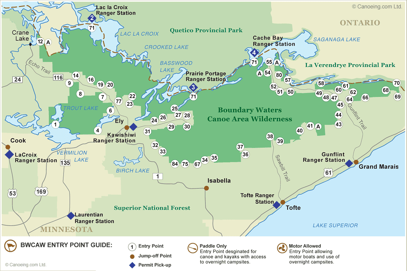 bwca entry point map